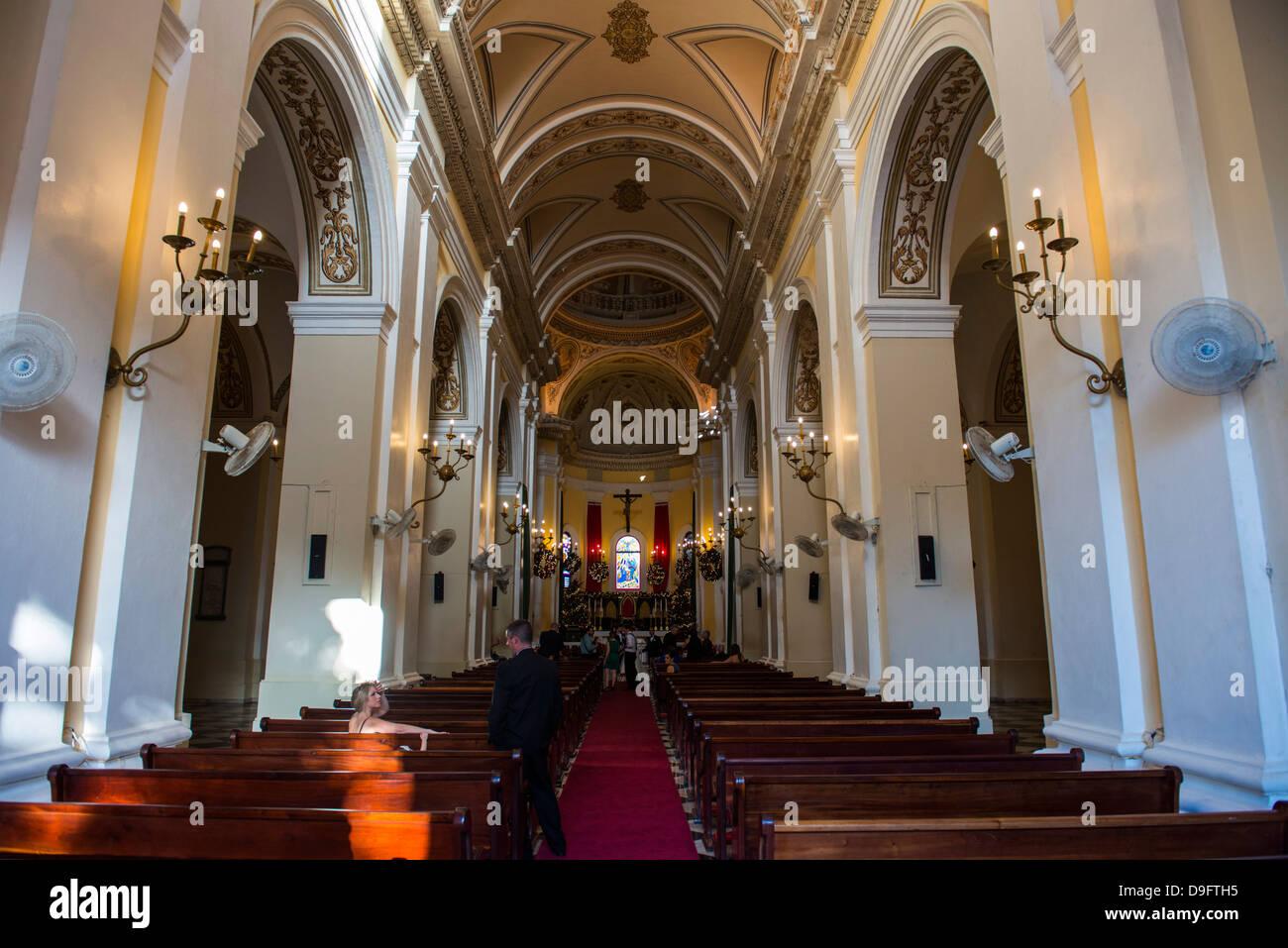 La Santa Catedral San Juan Bautista de Puerto Rico, West Indies, Caribbean - Stock Image