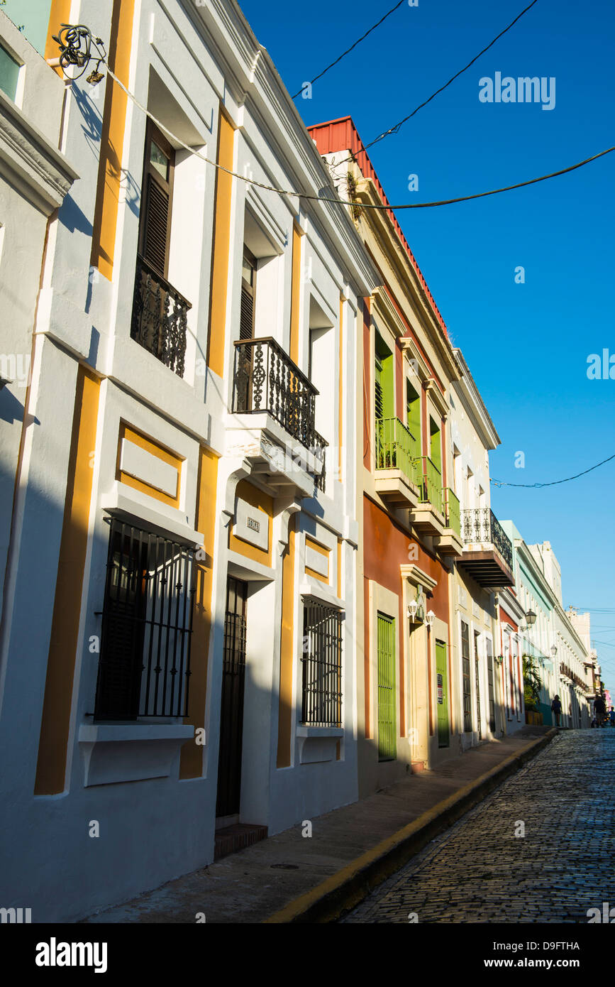 Old Town, San Juan, Puerto Rico, West Indies, Caribbean - Stock Image