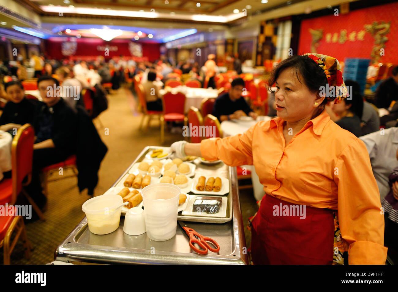 Chinese restaurant, Chinatown, Manhattan, New York, USA - Stock Image