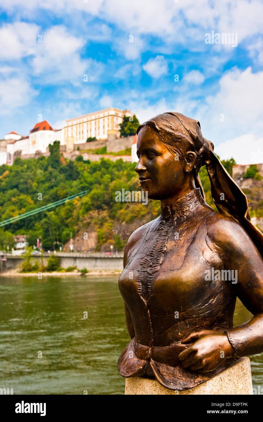 River Danube, Passau, Bavaria, Germany - Stock Image
