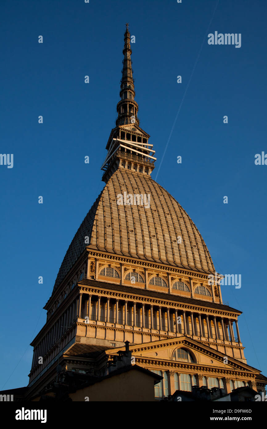 The Mole Antonelliana, now housing the Museo Nazionale del Cinema, a major landmark building in Turin, Piedmont, - Stock Image