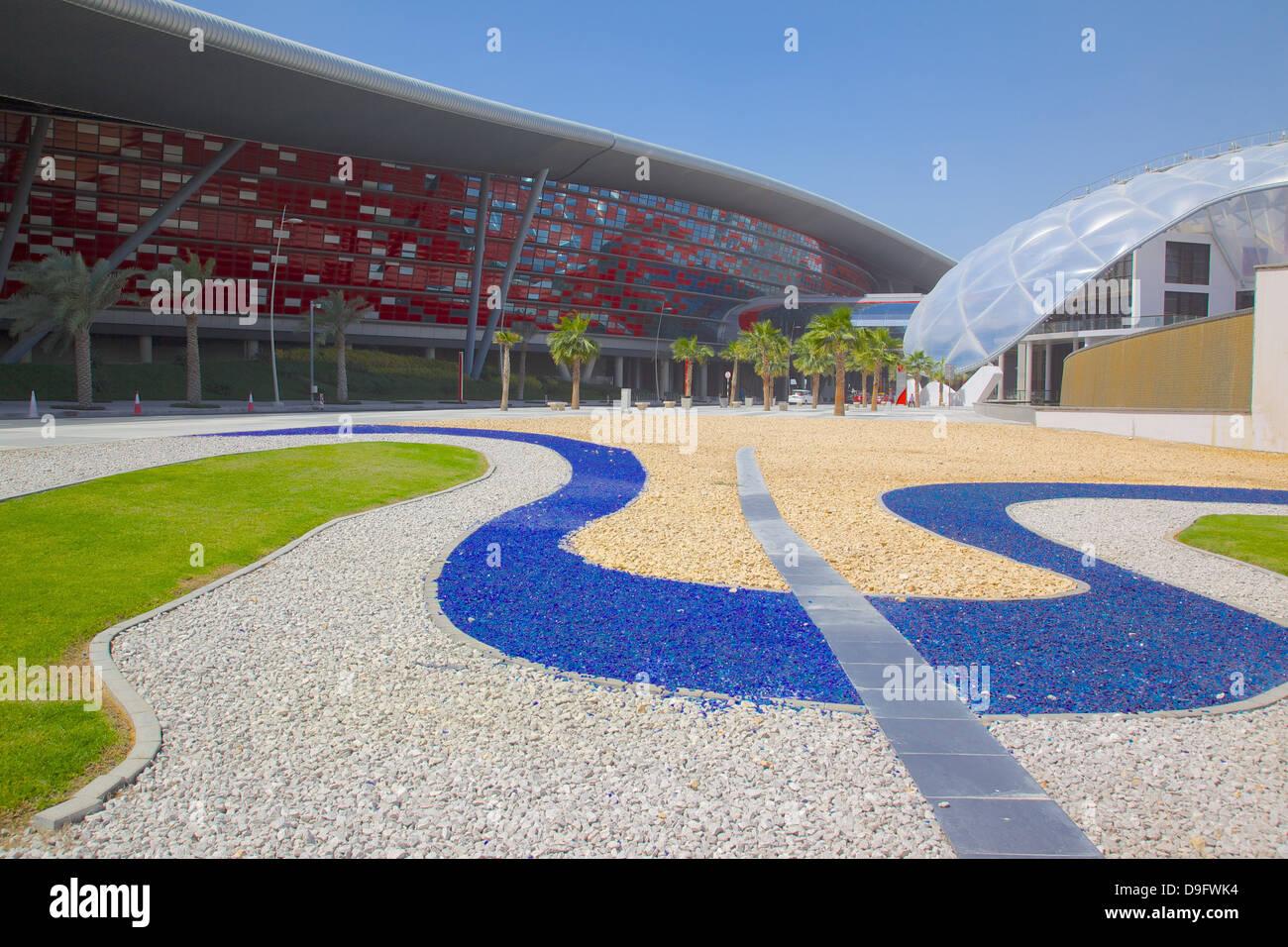 Ferrari World, Yas Island, Abu Dhabi, United Arab Emirates, Middle East - Stock Image