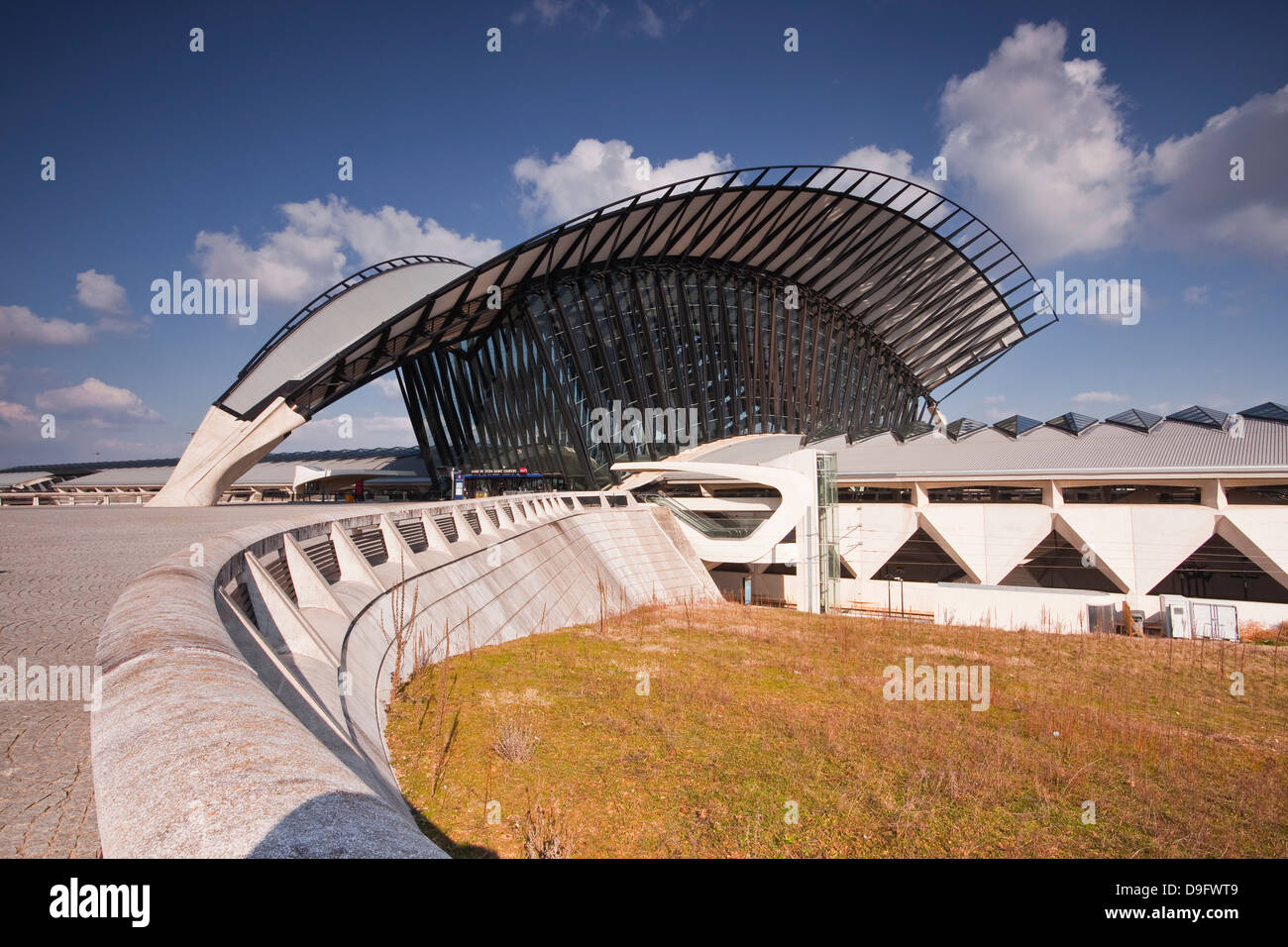 The TGV railway station of Lyon Saint Exupery, which serves the airport, Lyon, Rhone Alpes, France - Stock Image