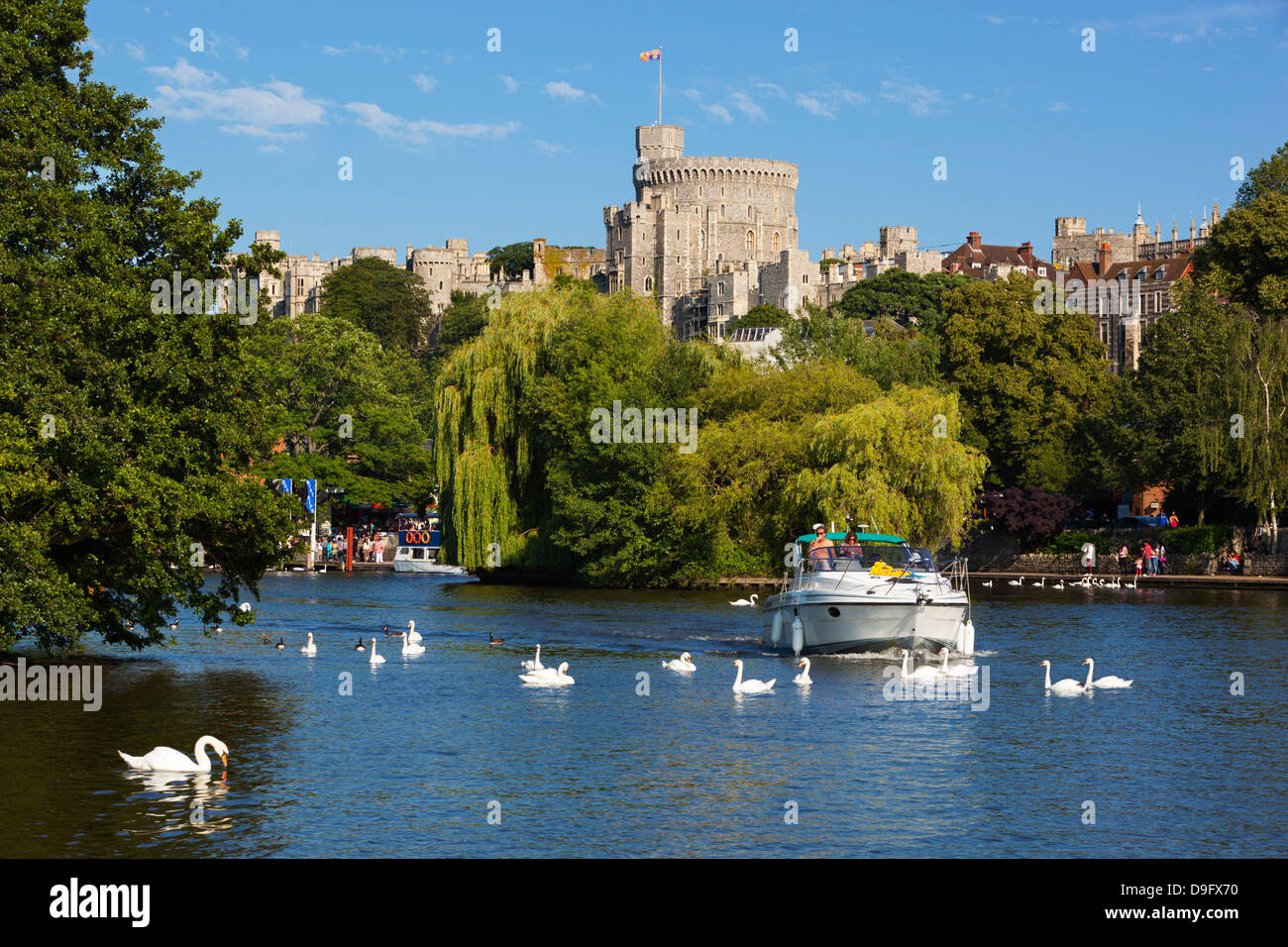 Windsor Castle and River Thames, Windsor, Berkshire, England, UK - Stock Image