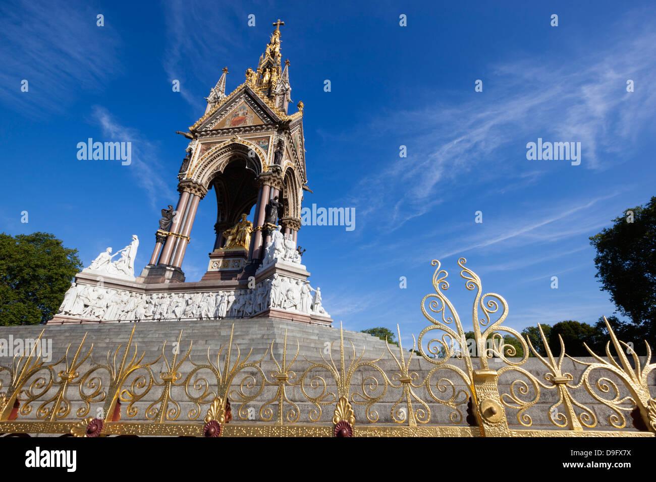 The Albert Memorial, Kensington Gardens, London, England, UK - Stock Image