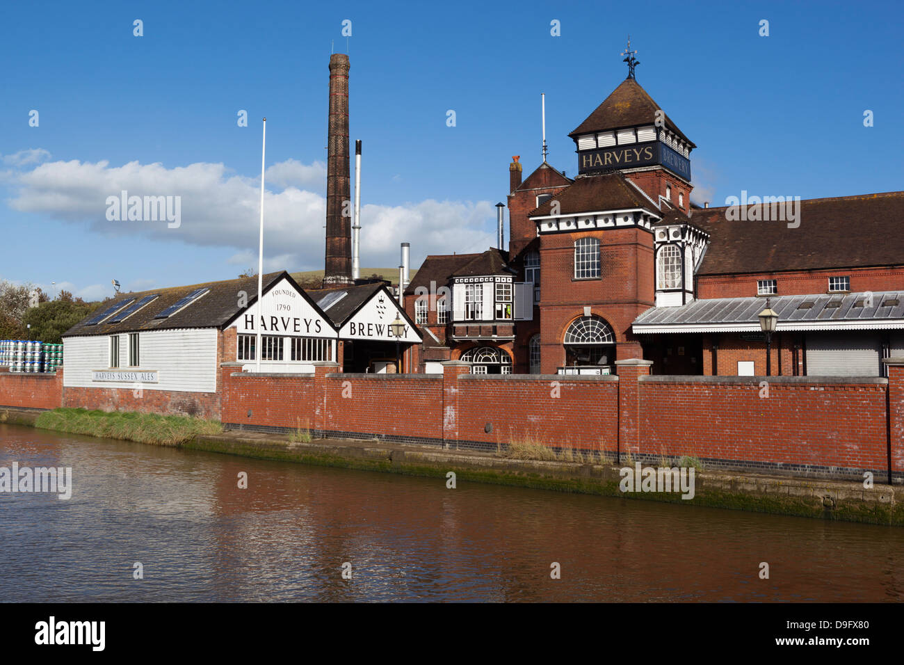 Harveys Brewery on River Ouse, Lewes, East Sussex, England, UK - Stock Image