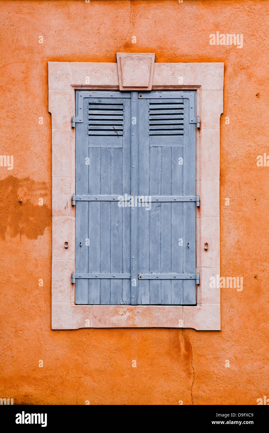 Typical French shutters in the old town of Le Mans, Sarthe, Pays de la Loire, France - Stock Image
