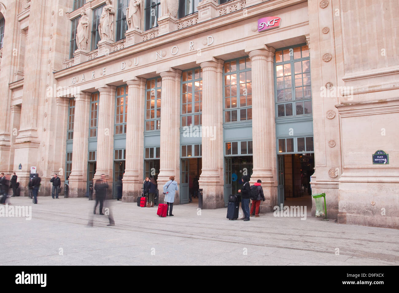 Gare du Nord railway station in Paris, France - Stock Image