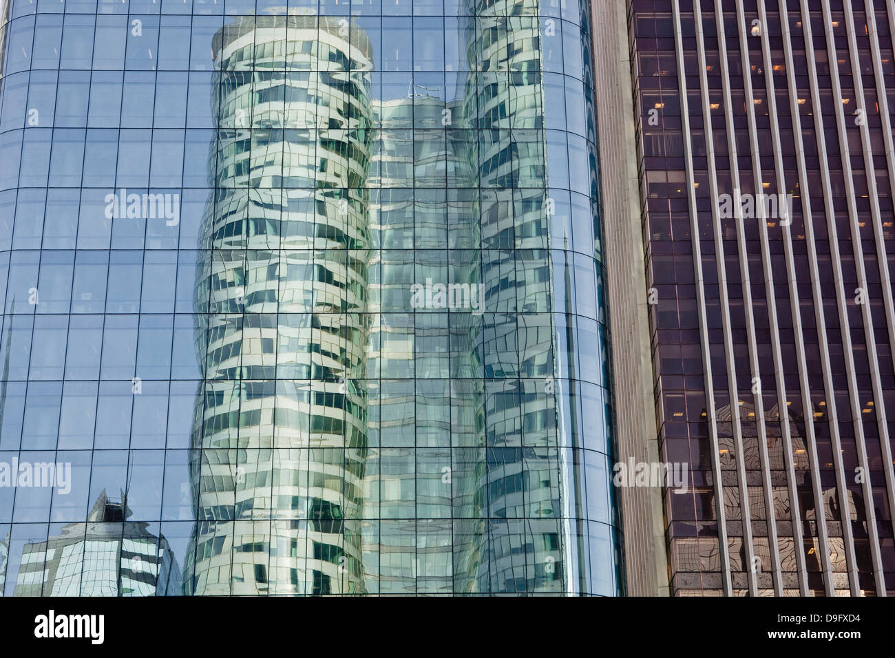 High rise office buildings in the La Defense district of Paris, France - Stock Image