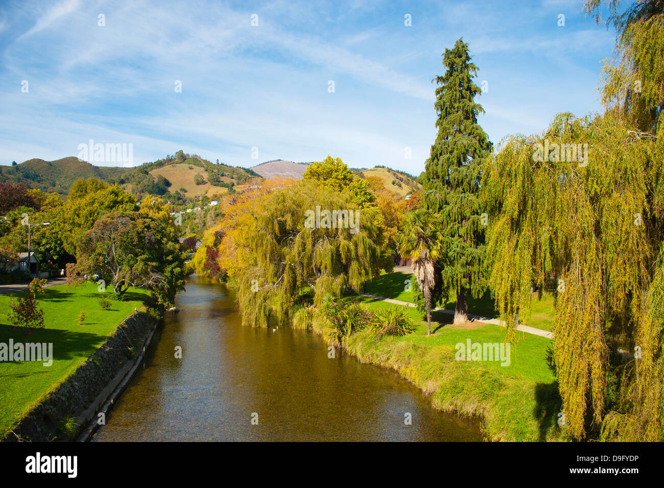 Nelson town centre, Nelson, South Island, New Zealand - Stock Image