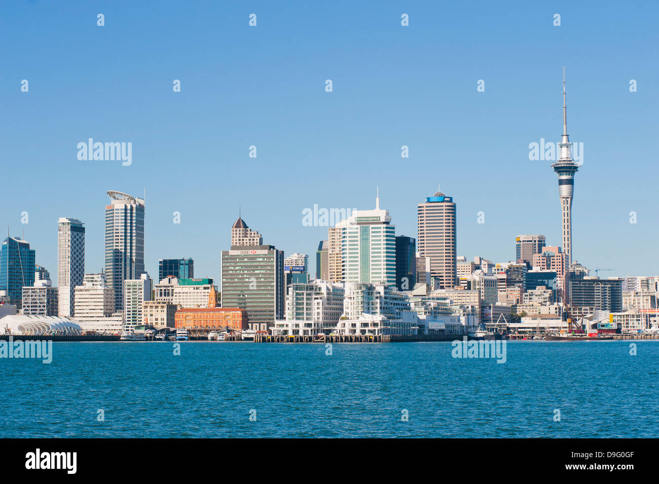Auckland city skyline, North Island, New Zealand Stock Photo