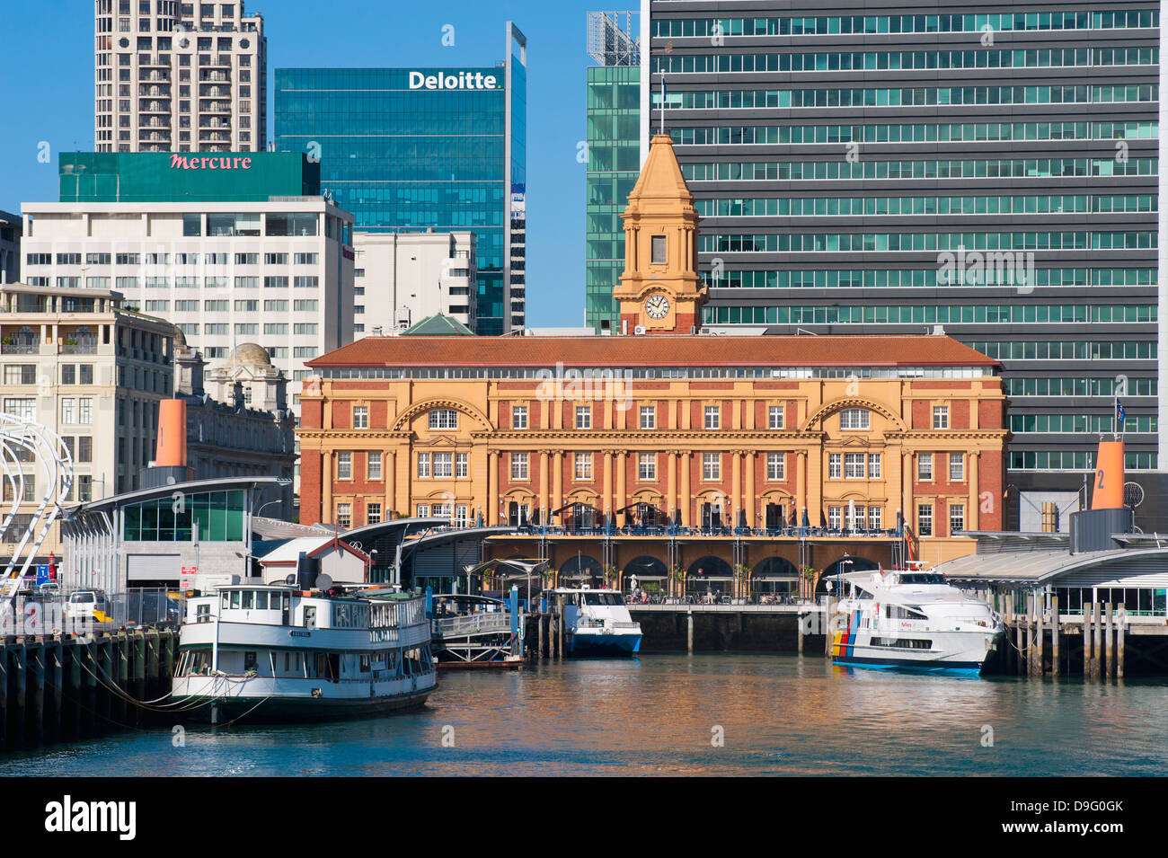Downtown Auckland ferry terminal, Auckland, North Island, New Zealand - Stock Image