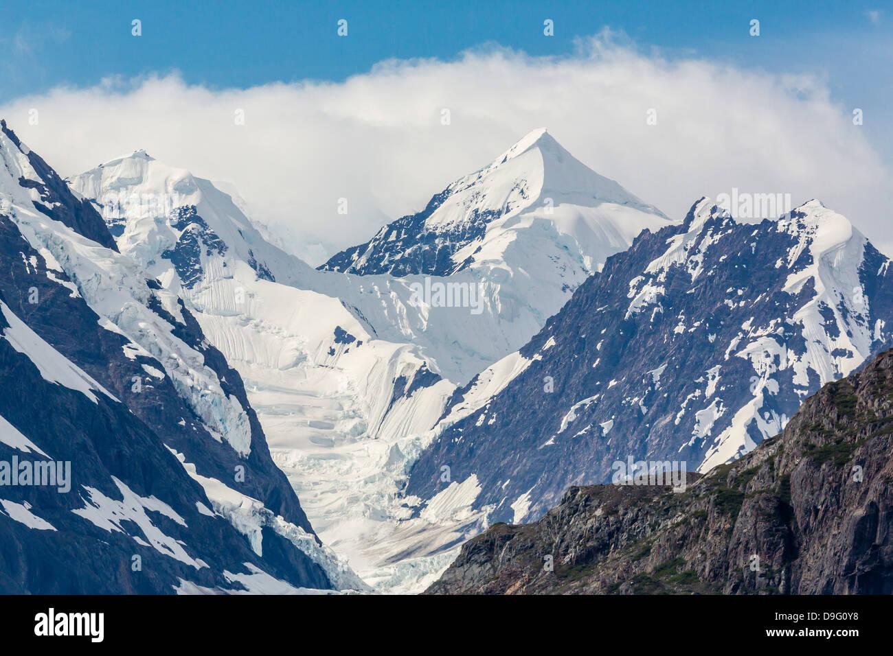 Johns Hopkins Inlet, Fairweather Range, Glacier Bay National Park and Preserve, Southeast Alaska, USA - Stock Image
