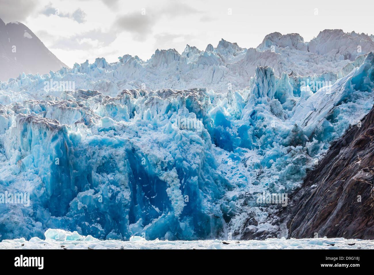 South Sawyer Glacier, Tracy Arm-Ford's Terror Wilderness area, Southeast Alaska, USA - Stock Image