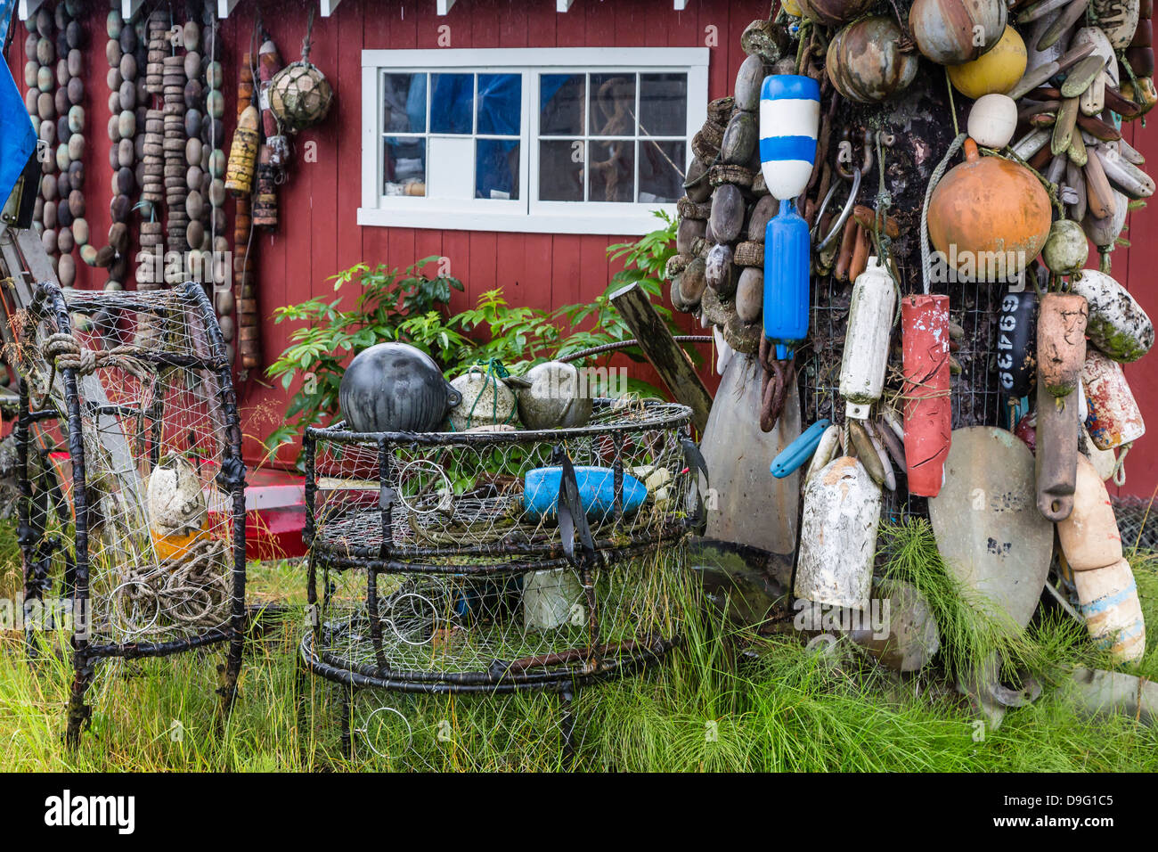 The Norwegian fishing town of Petersburg, Southeast Alaska, USA - Stock Image