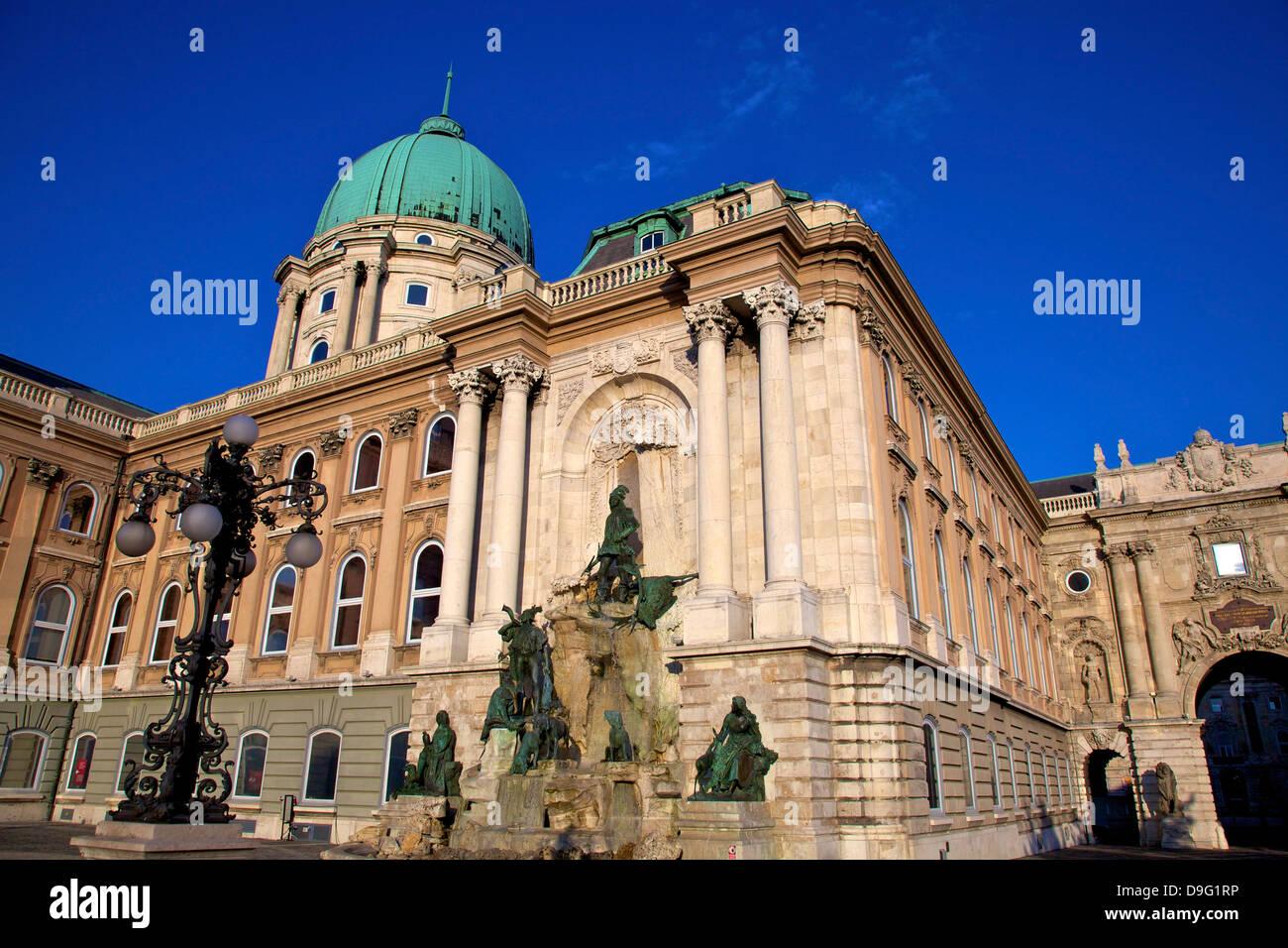 Matthias Fountain, Buda Castle, UNESCO World Heritage Site, Budapest, Hungary - Stock Image