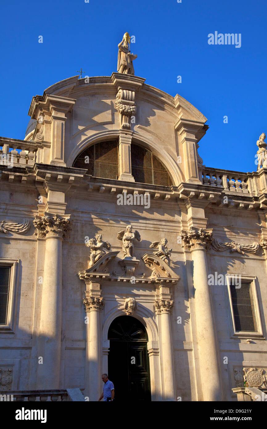 Church of St. Blaise, Old City, UNESCO World Heritage Site, Dubrovnik, Croatia - Stock Image