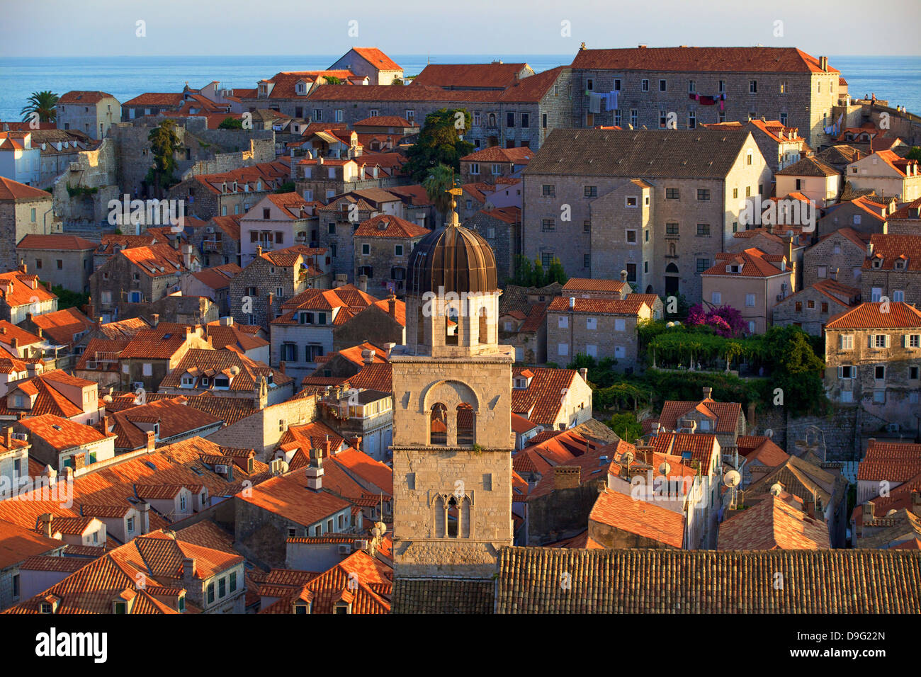 View over Old City with Franciscan Monastery, UNESCO World Heritage Site, Dubrovnik, Croatia - Stock Image
