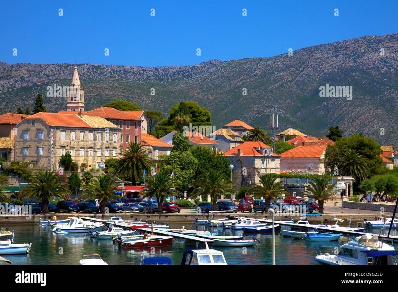Orebic Harbour, Orebic, Dalmatian Coast, Croatia, Stock Photo