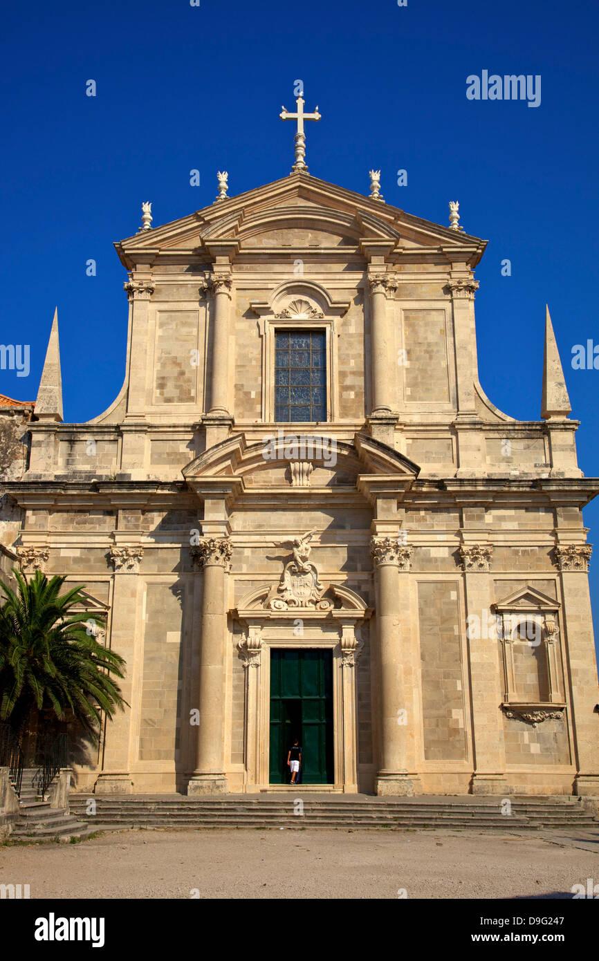 Jesuit Church of St. Ignatius, Dubrovnik, Croatia - Stock Image