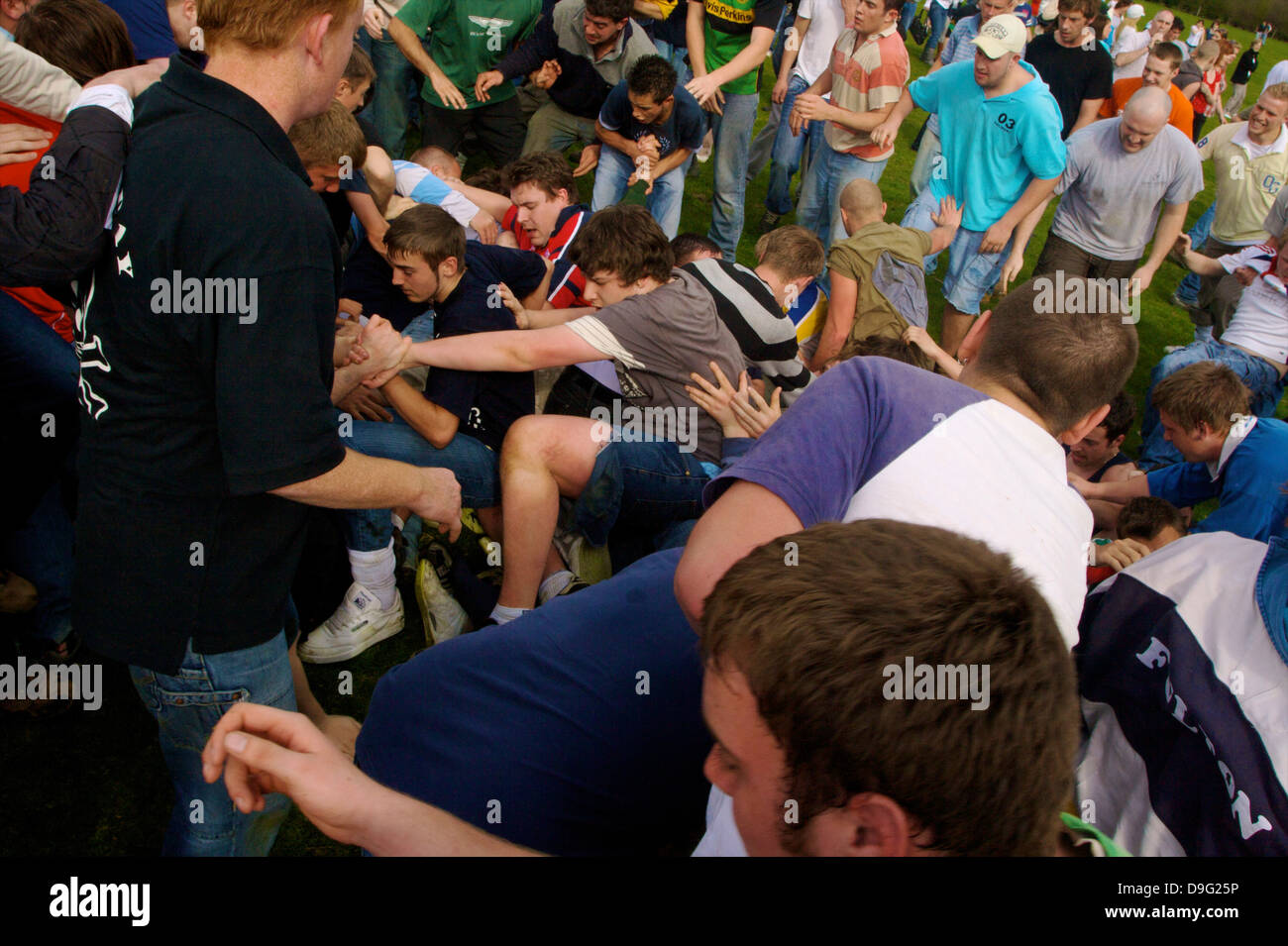 The Old Annual Custom of Bottle-kicking, Hallaton, Leicestershire, England, UK - Stock Image