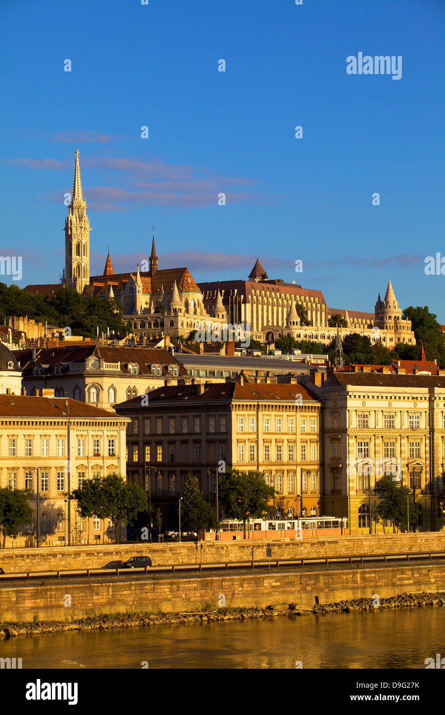 Matyas Church (Matthias Church) and Fisherman's Bastion, Budapest, Hungary - Stock Image