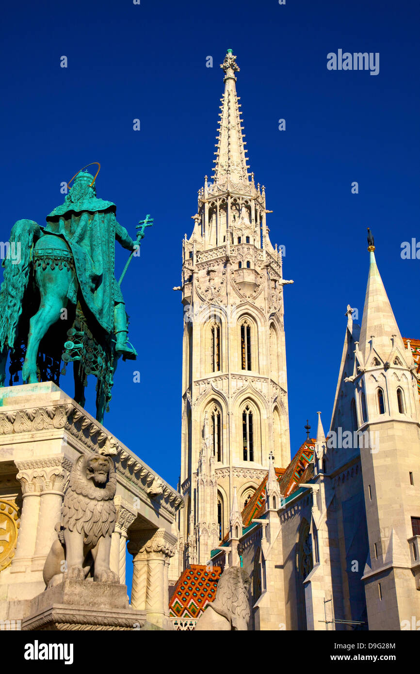 Matyas Church (Matthias Church) at Fisherman's Bastion, Budapest, Hungary - Stock Image