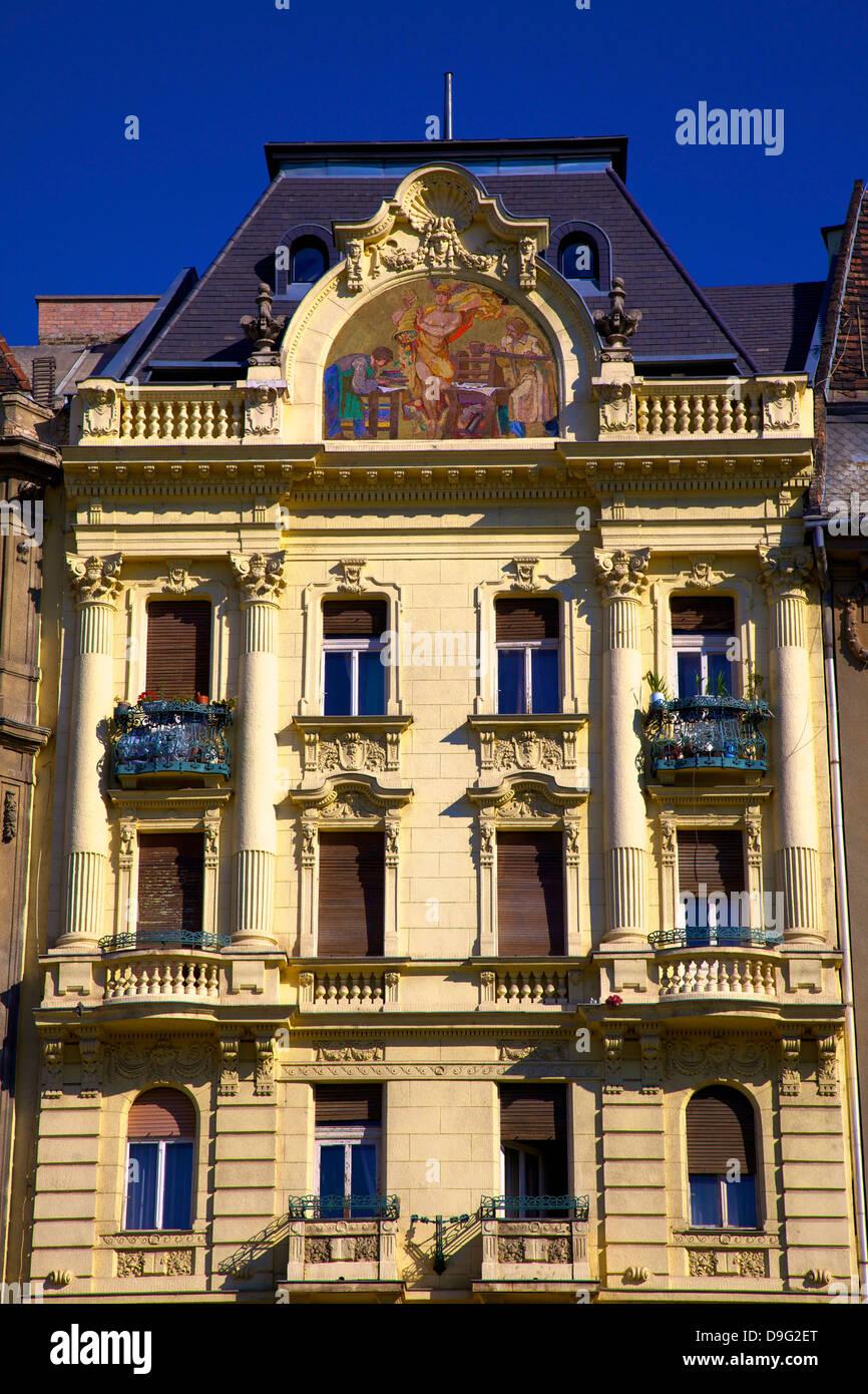 Historic Pharmacy Building, Budapest, Hungary - Stock Image