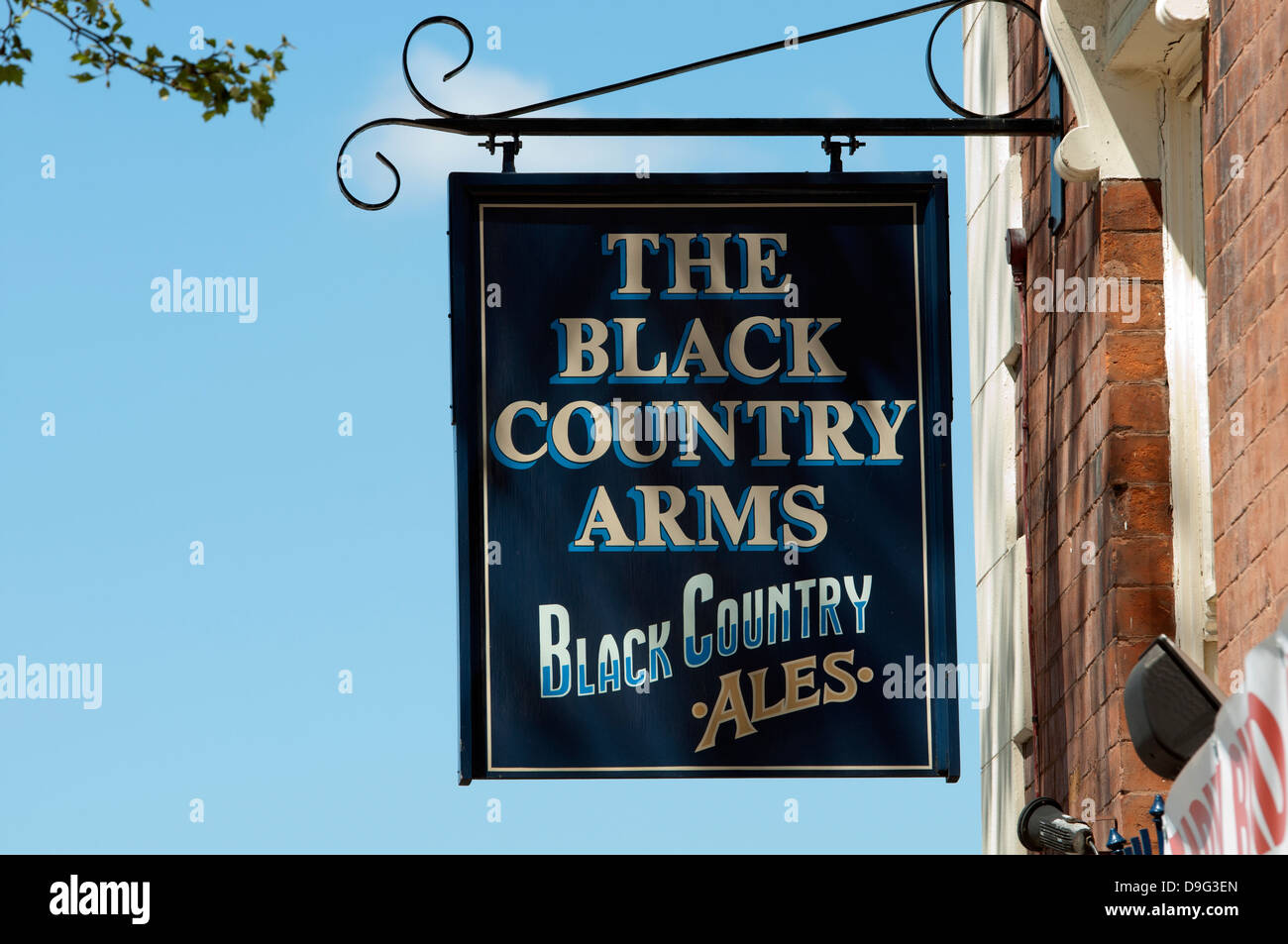 The Black Country Arms pub sign, Walsall, West Midlands, England, UK - Stock Image