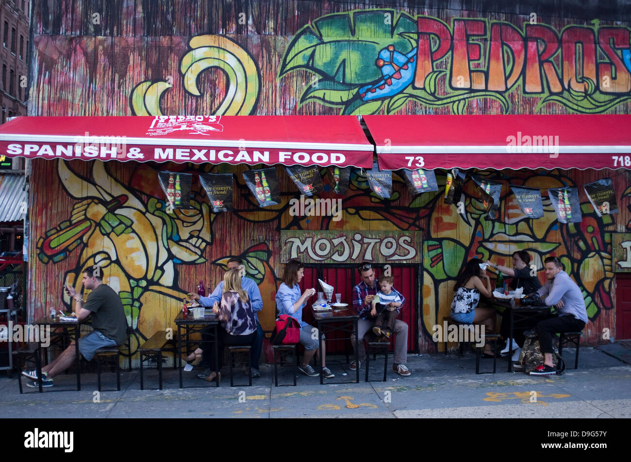 Mexican Restaurant Pedros In Dumbo Area Brooklyn New York