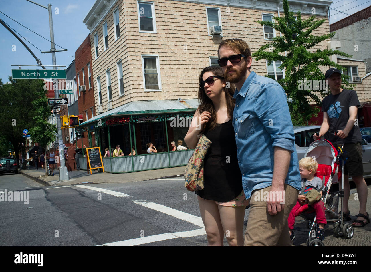 Hipsters in Williamsburg, Brooklyn, New York Stock Photo