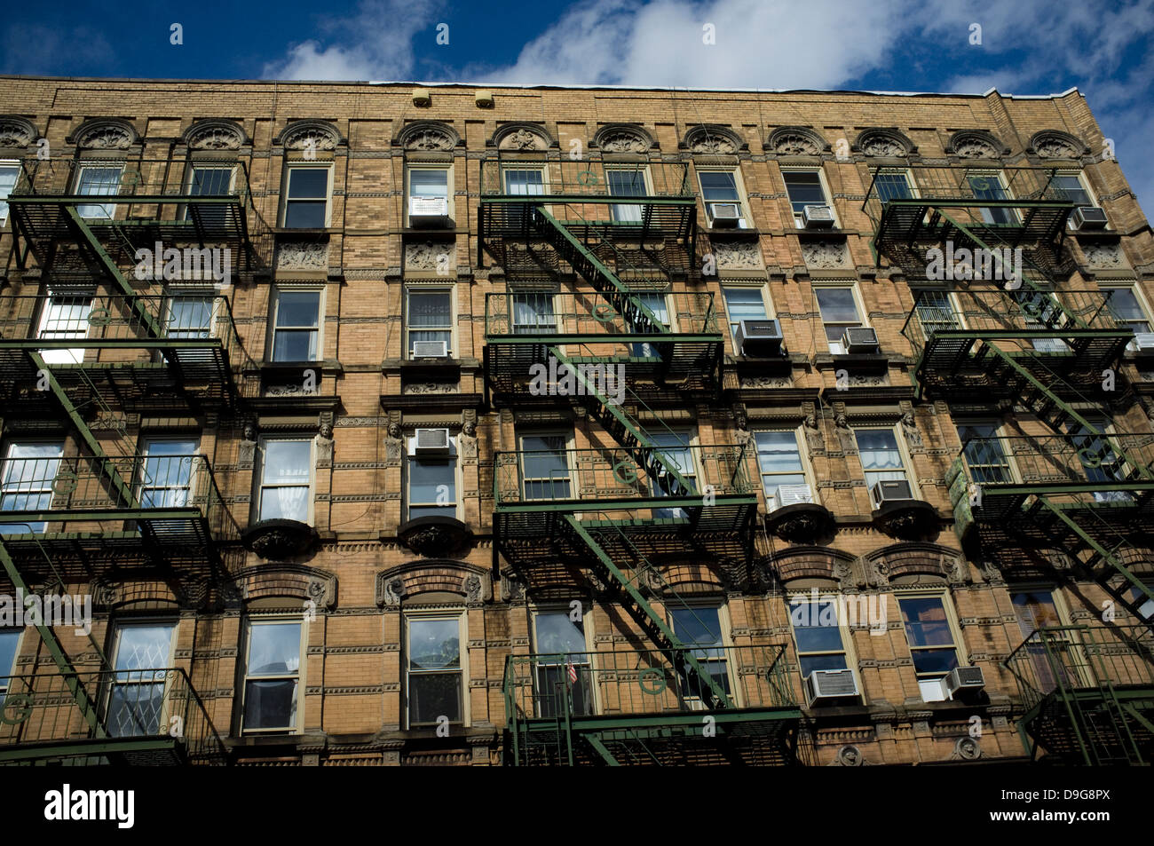 Bleecker St, Greenwich Village, New York City. Facade, Building, Stairs,  Service, Staircase