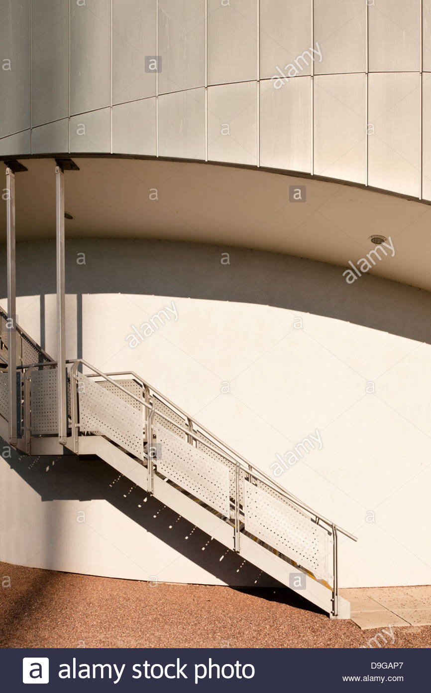 Architectural detail from a modern building exterior. Jubilee Campus, Nottingham University, England, UK - Stock Image