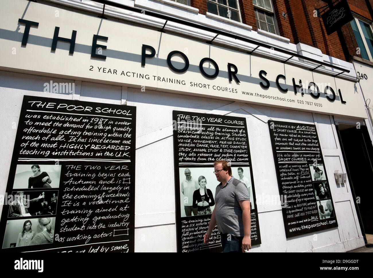 The Poor School stage school in Kings Cross, London - Stock Image