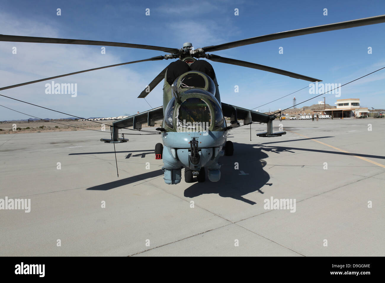 An Mi-24 Hind helicopter. - Stock Image
