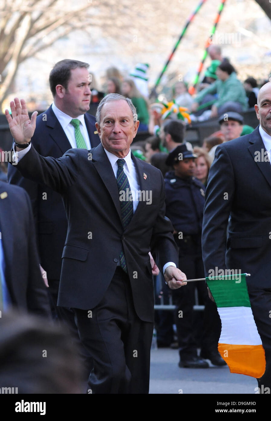 Michael Bloomberg 250th Annual St. Patrick's Day Parade New York City, USA - 17.03.11 - Stock Image