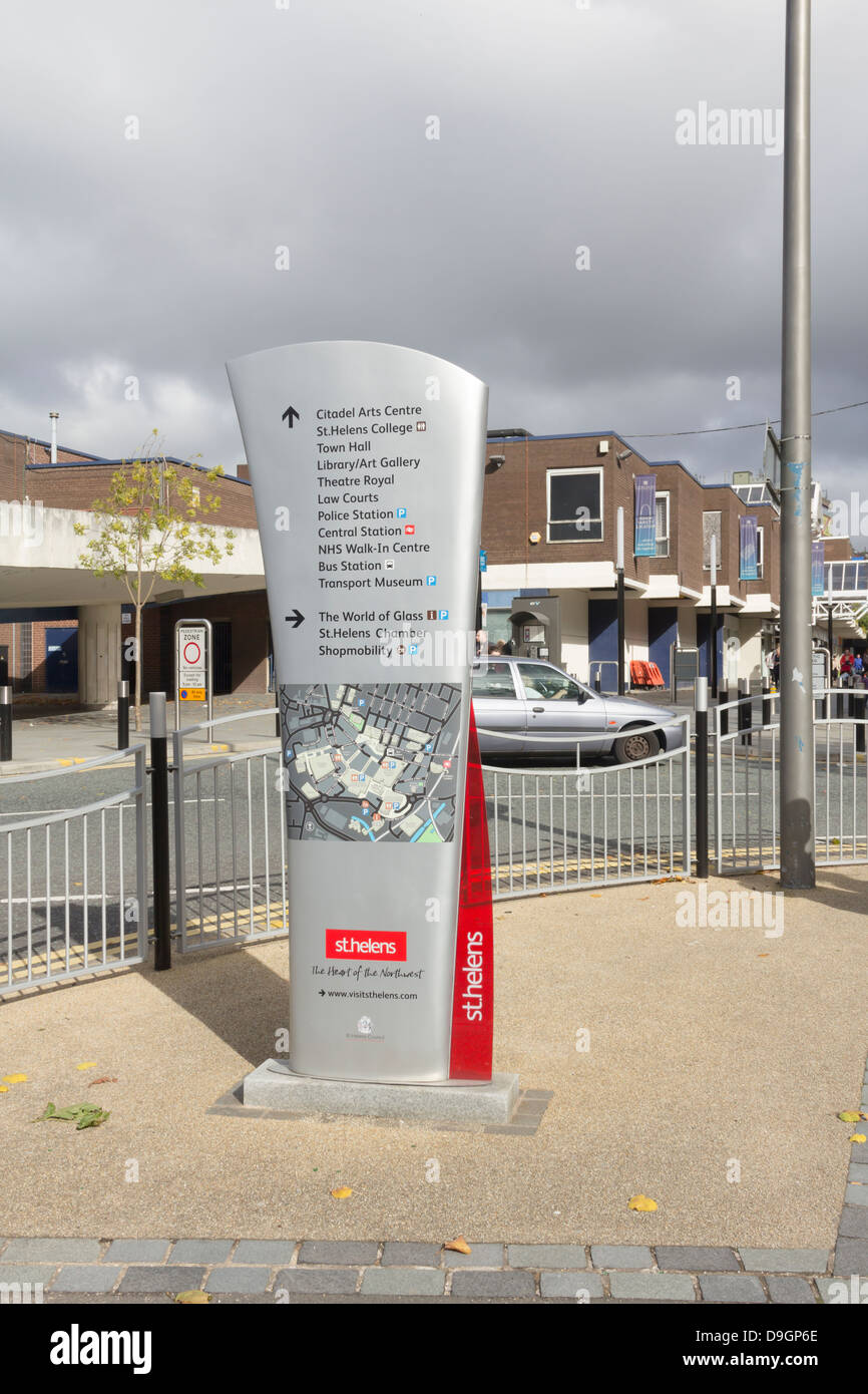 Post-modern Design Tourist Information Board, Map And
