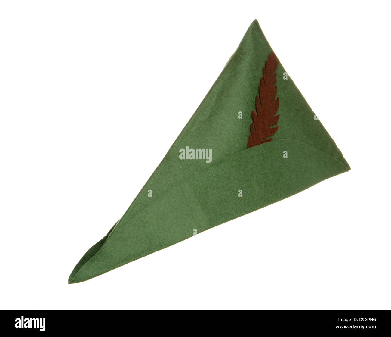 robin hood hat studio cutout - Stock Image