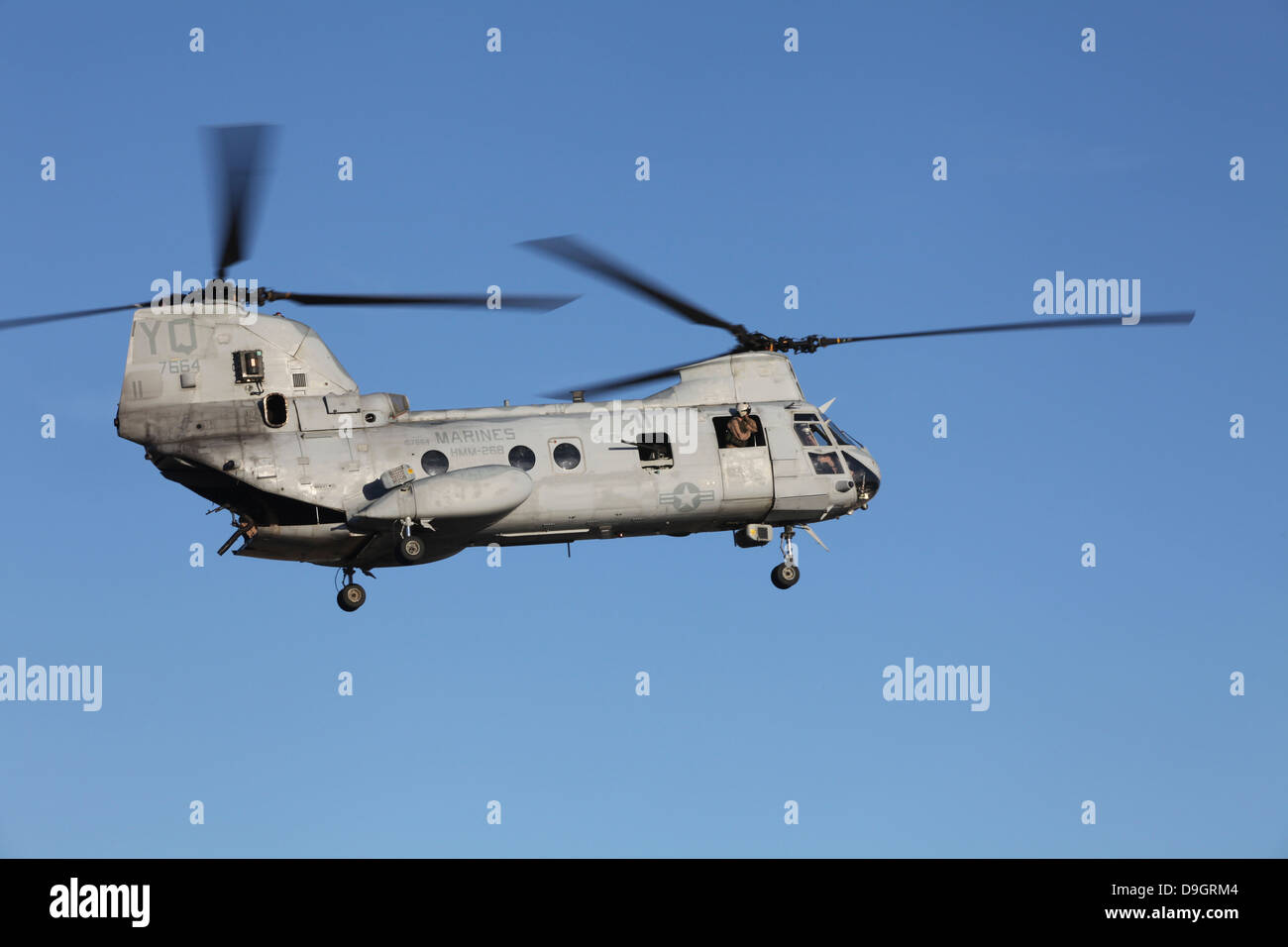 A U.S. Marine Corps CH-53 Sea Stallion helicopter. - Stock Image