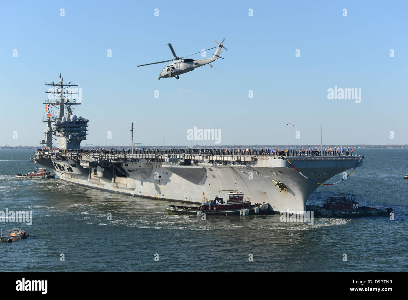Nimitz-class aircraft carrier USS Dwight D. Eisenhower. - Stock Image