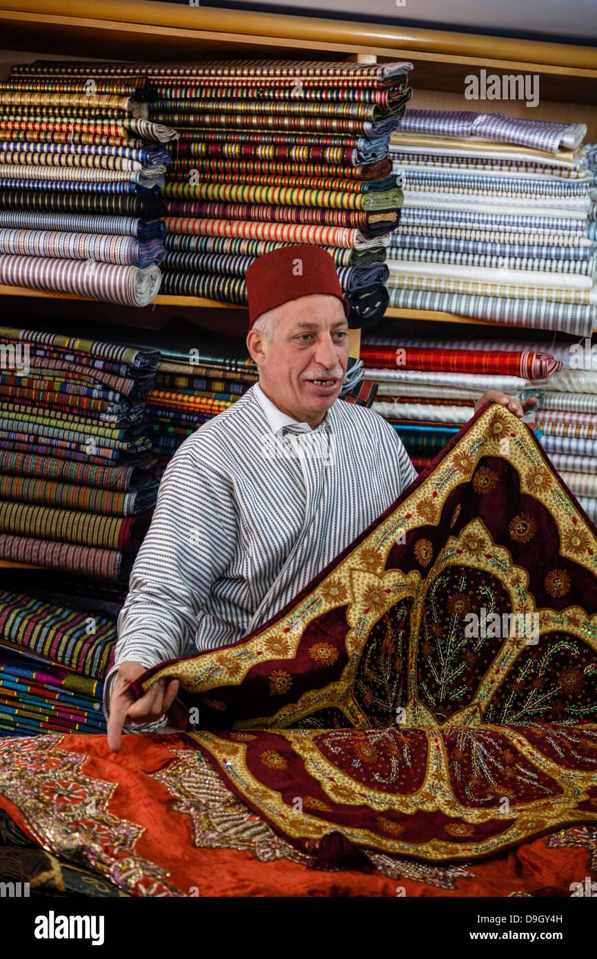 Carpet shop in the old city, Jerusalem, Israel. - Stock Image