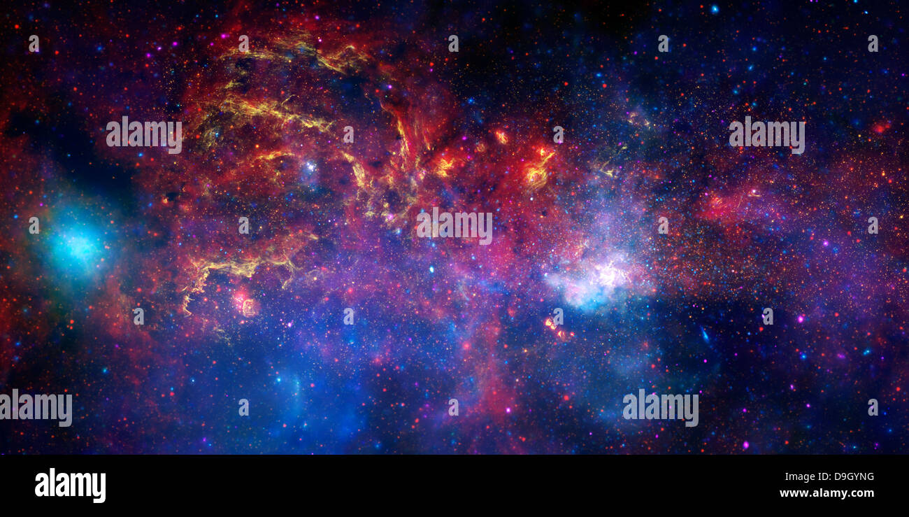 The central region of the Milky Way galaxy. - Stock Image