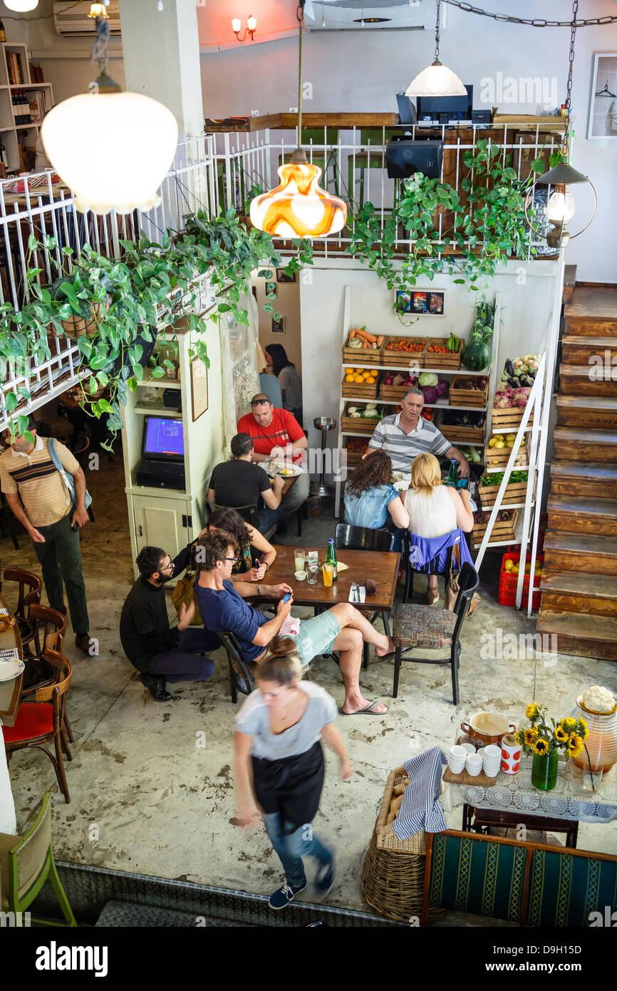 Machneyuda restaurant, Jerusalem, Israel. - Stock Image