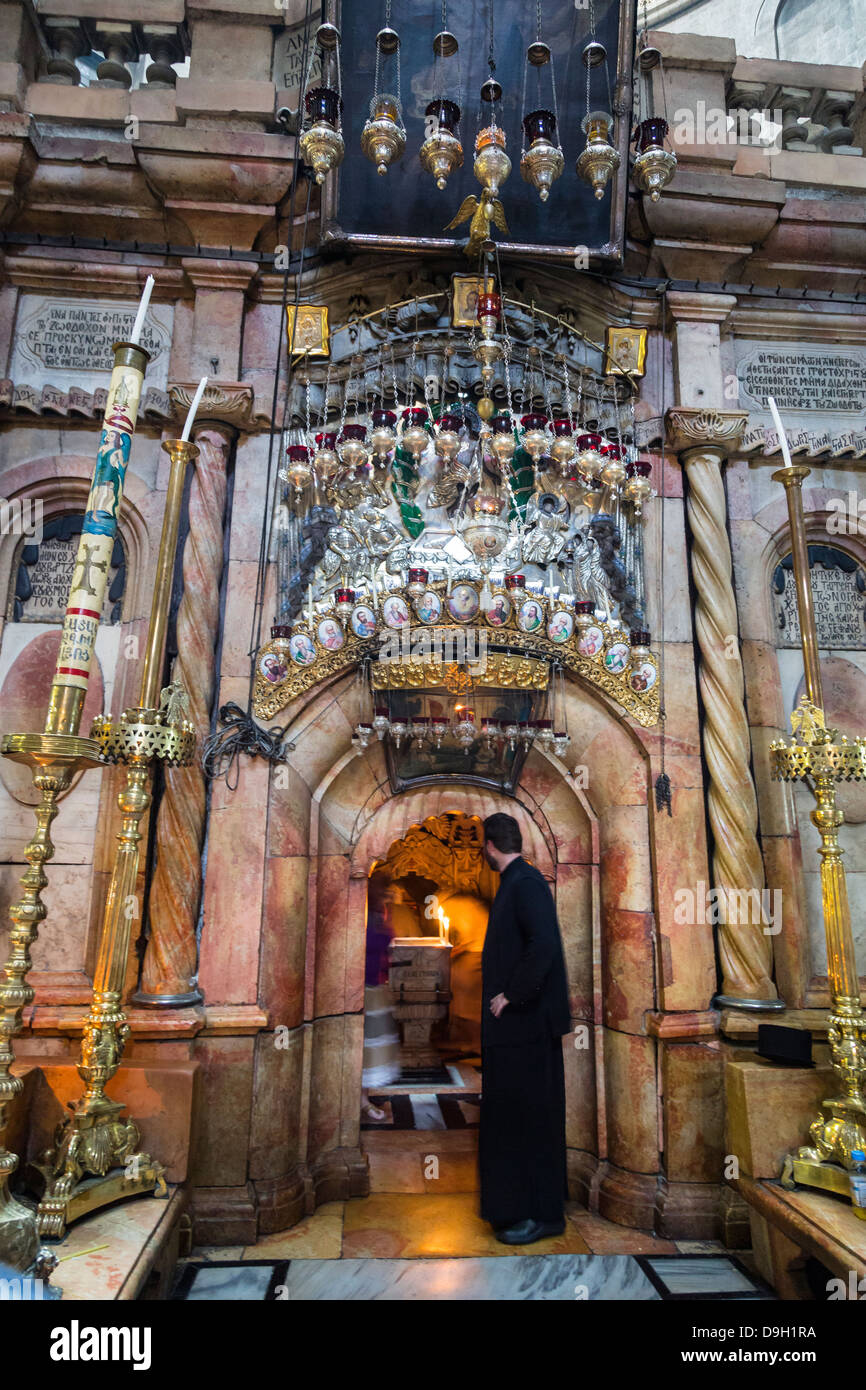 Church of the Holy Sepulchre in the old city, Jerusalem, Israel. - Stock Image