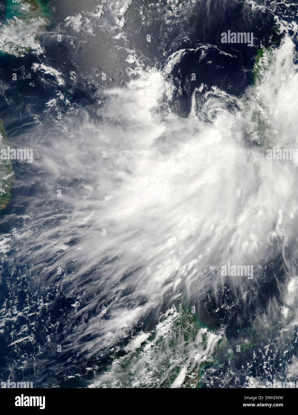 Tropical Storm Conson - Stock Image