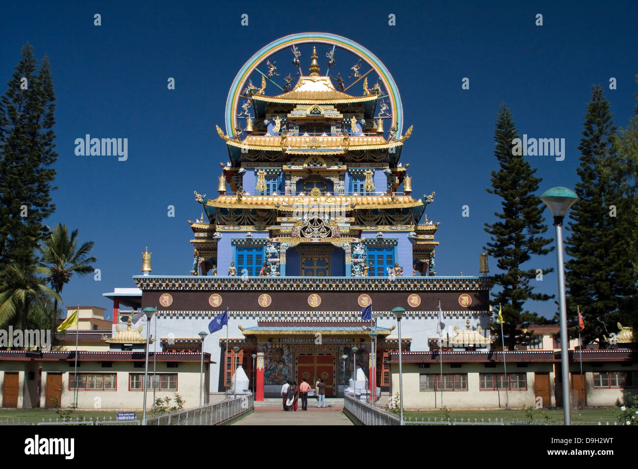 Asia, India, Karnataka, Bylakuppe, Golden Temple - Stock Image