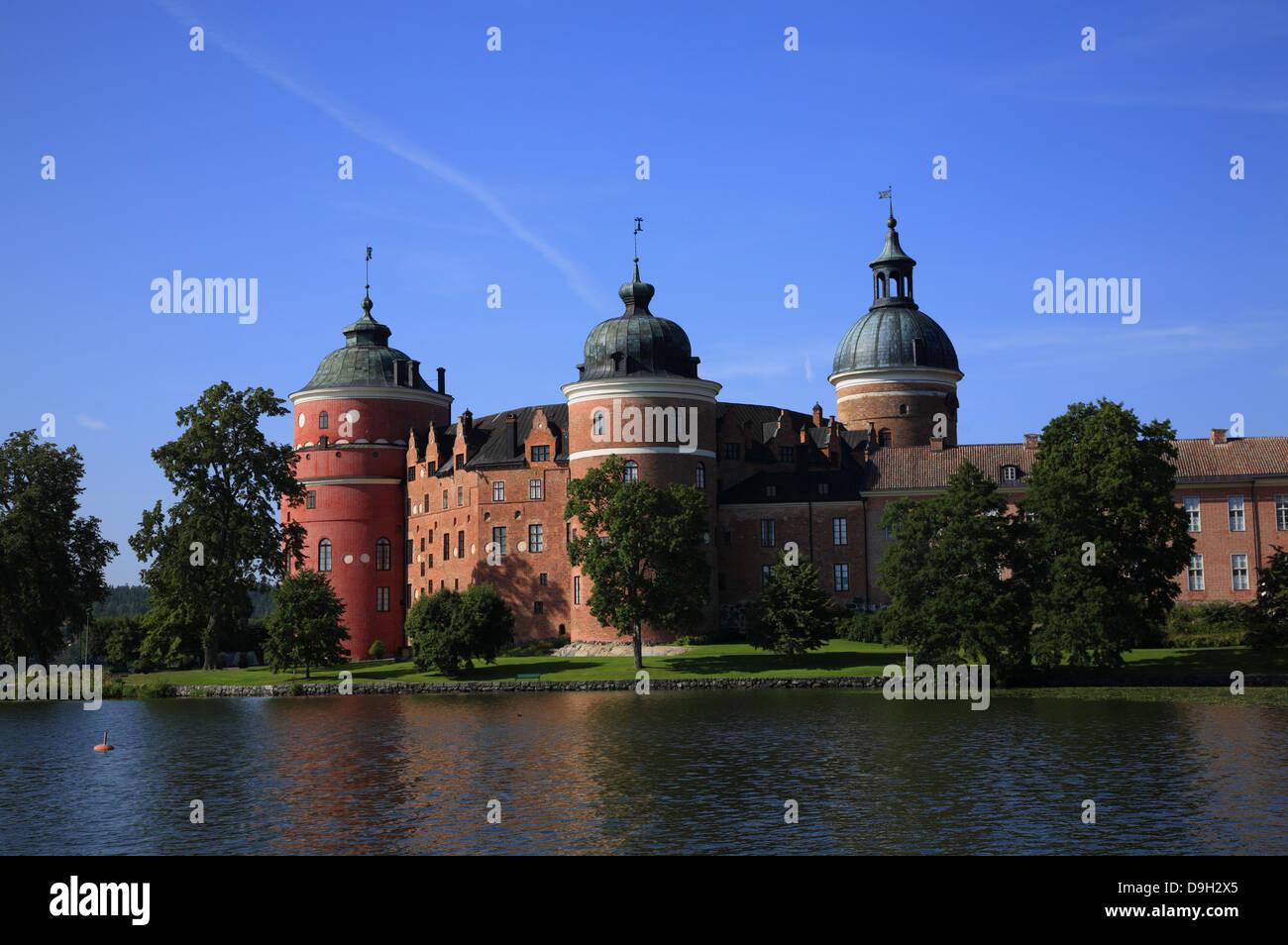 GRIPSHOLM Castle at lake Malaren, Mariefred, Sodermanland, Sweden, Scandinavia - Stock Image