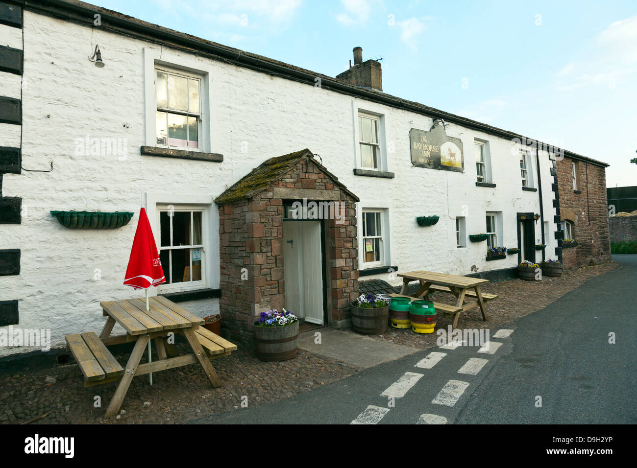The bay horse inn Winton pub  Lake District National Park, Cumbria, England, UK - Stock Image
