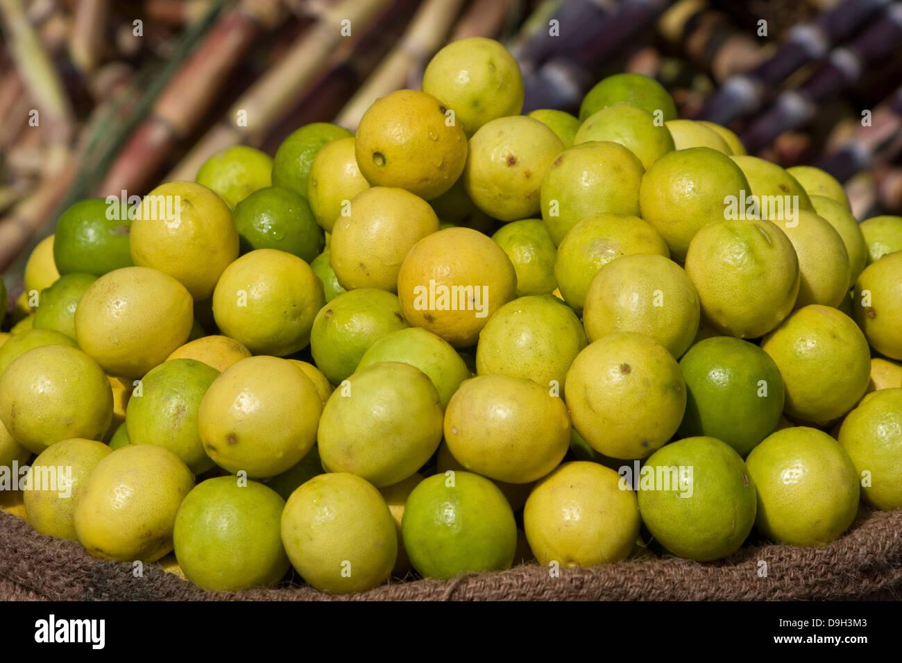 Asia, India, Karnataka, Mysore, Devaraja Market, lime Stock Photo