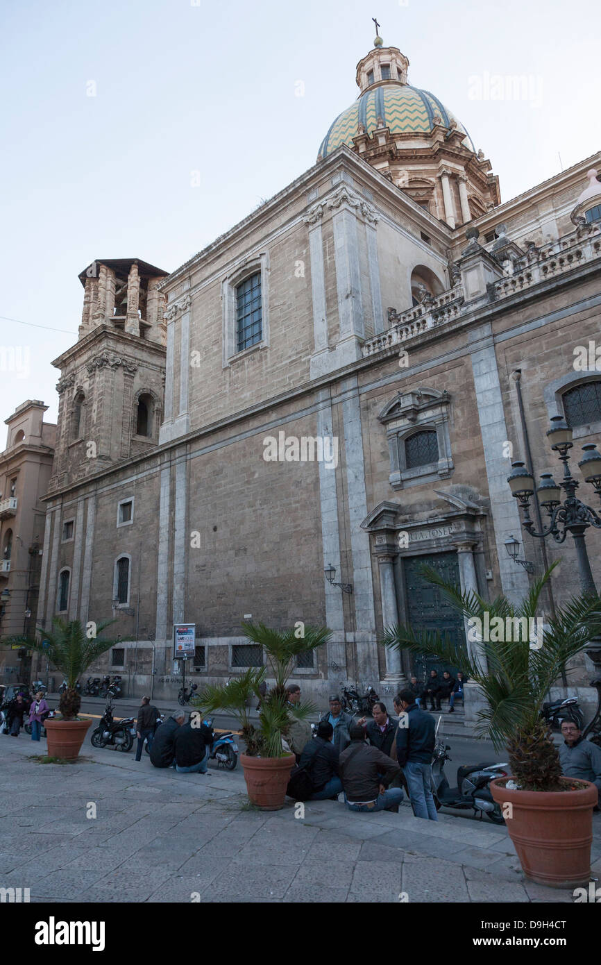 San Giuseppe dei Teatini, Church, Palermo, Sicily, Italy - Stock Image